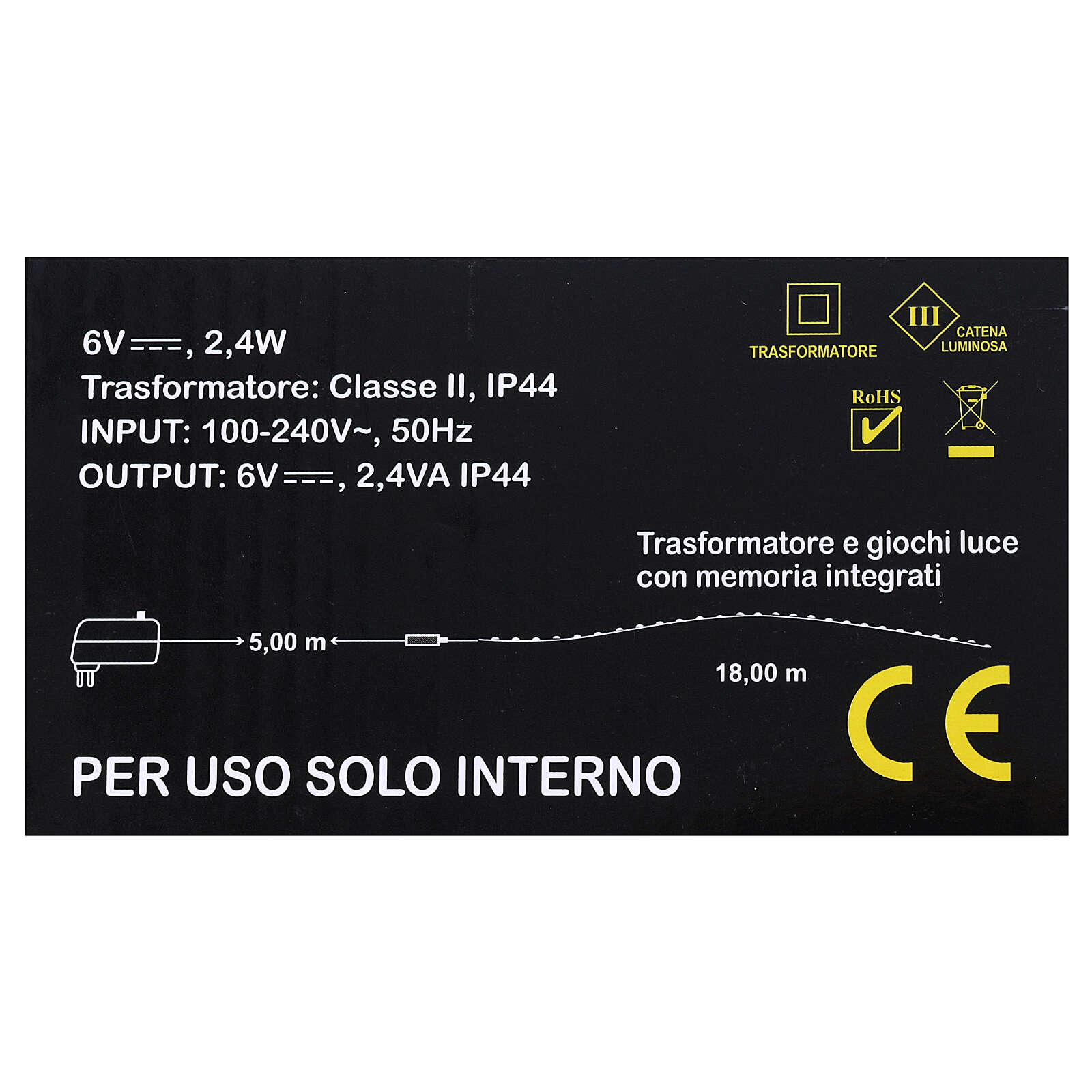 Illuminated wire 100 nano leds warm white internal use 4