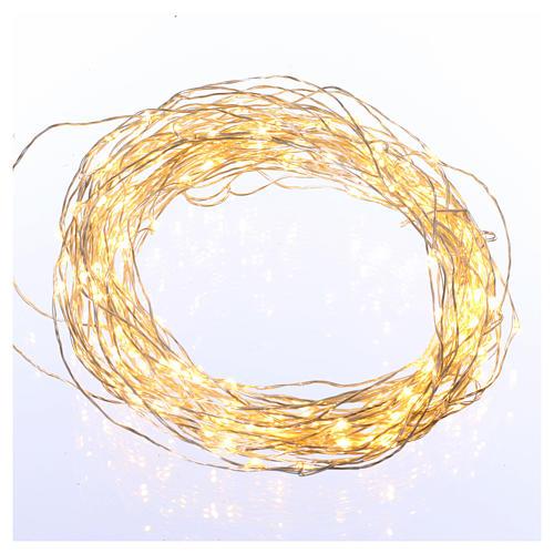 Illuminated wire 100 nano leds warm white internal use 1