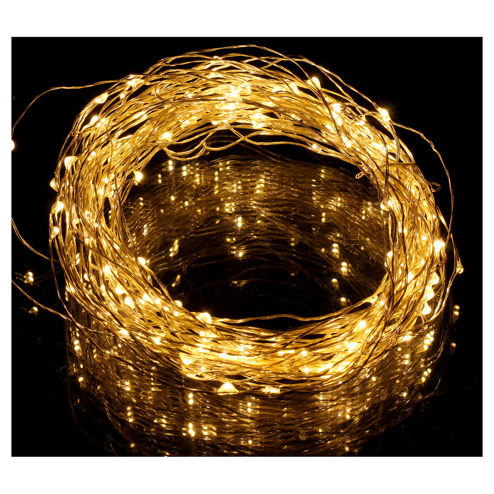 Filo luminoso 180 nano led bianco caldo solo uso interno 3