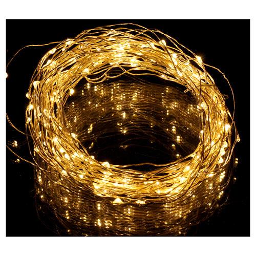 Filo luminoso 180 nano led bianco caldo solo uso interno 2