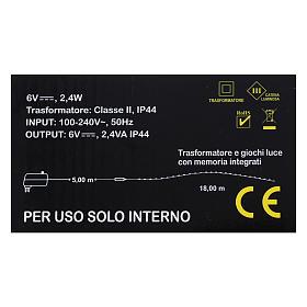 Illuminated wire 100 nano leds warm white internal use s4