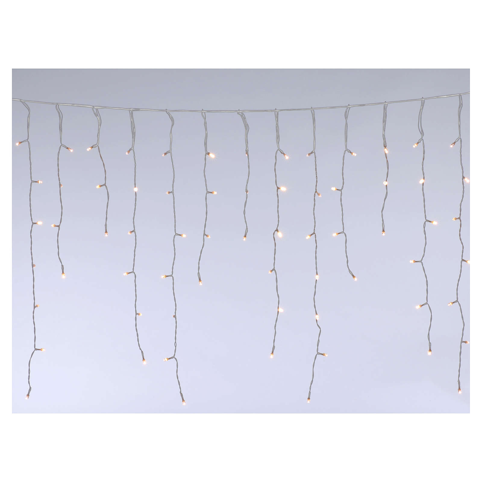 Luce stalattiti 180 Mega Led bianco caldo interno esterno 3