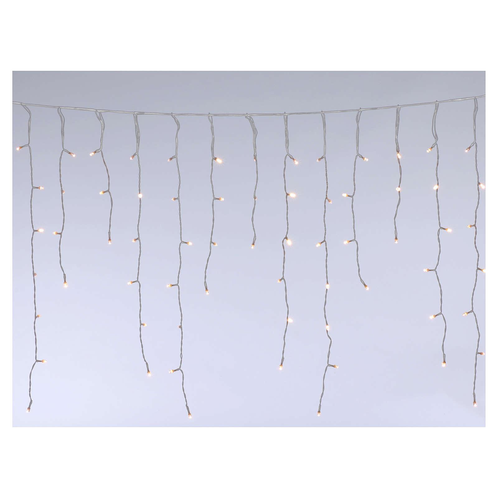 Stalactite light 180 mega leds warm white internal and external use 3