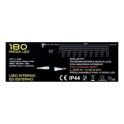 Stalactite light 180 mega leds warm white internal and external use 5