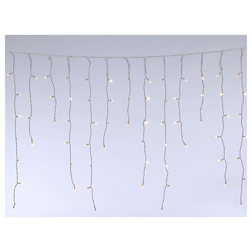 Stalactite light 180 mega leds warm white internal and external use 3