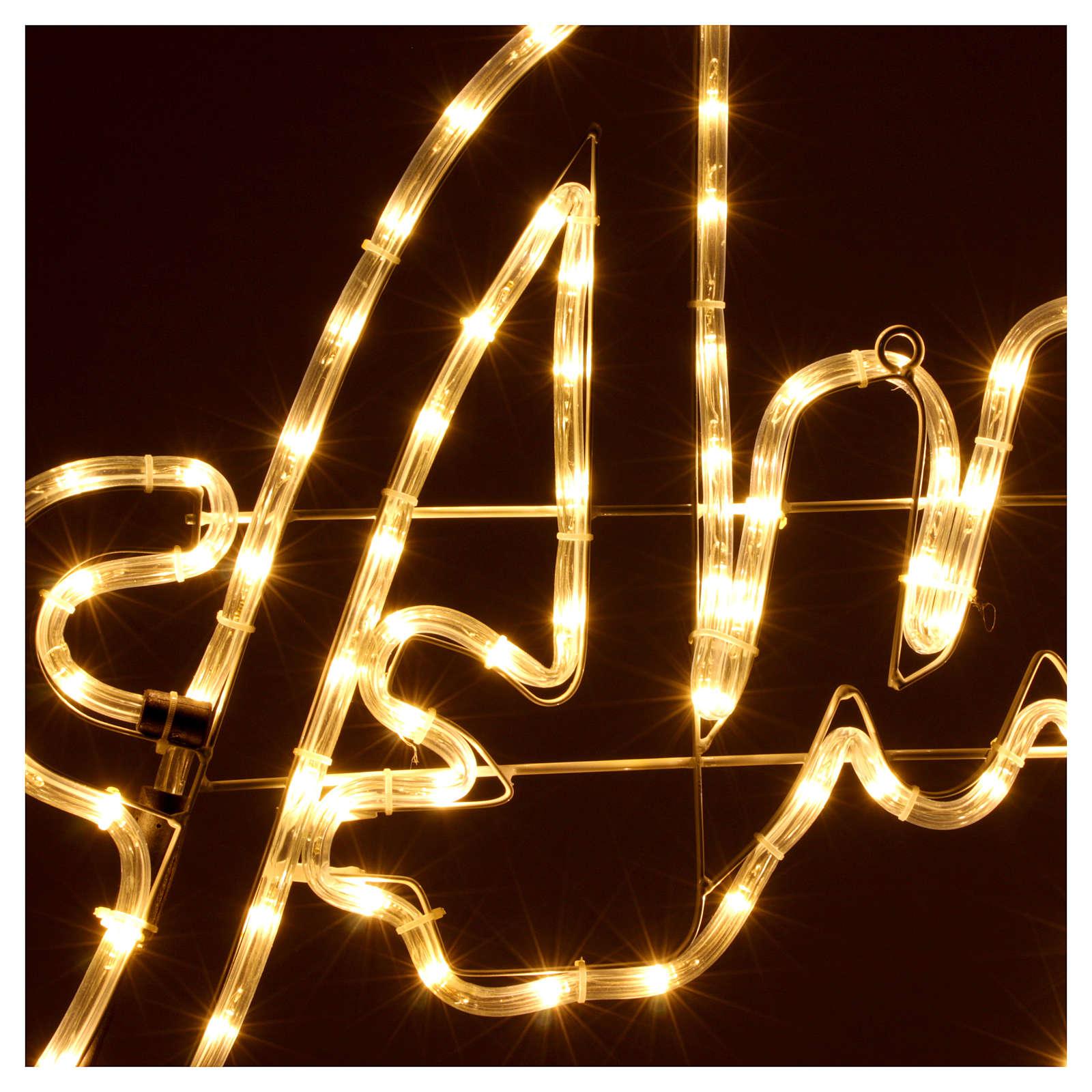 Luce Natale Auguri 168 led ghiaccio interno esterno 3