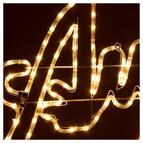 Luce Natale Auguri 168 led ghiaccio interno esterno s3