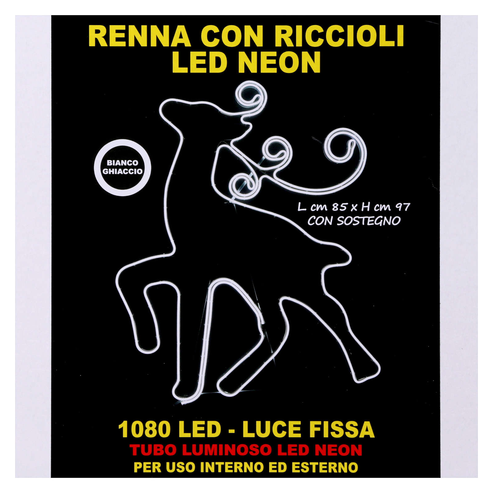 Luce Renna 180 led Ghiaccio tubo neon interno esterno 3