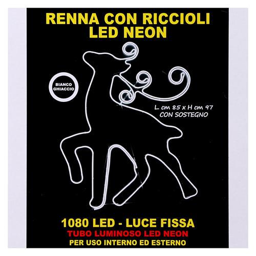 Luce Renna 180 led Ghiaccio tubo neon interno esterno 7