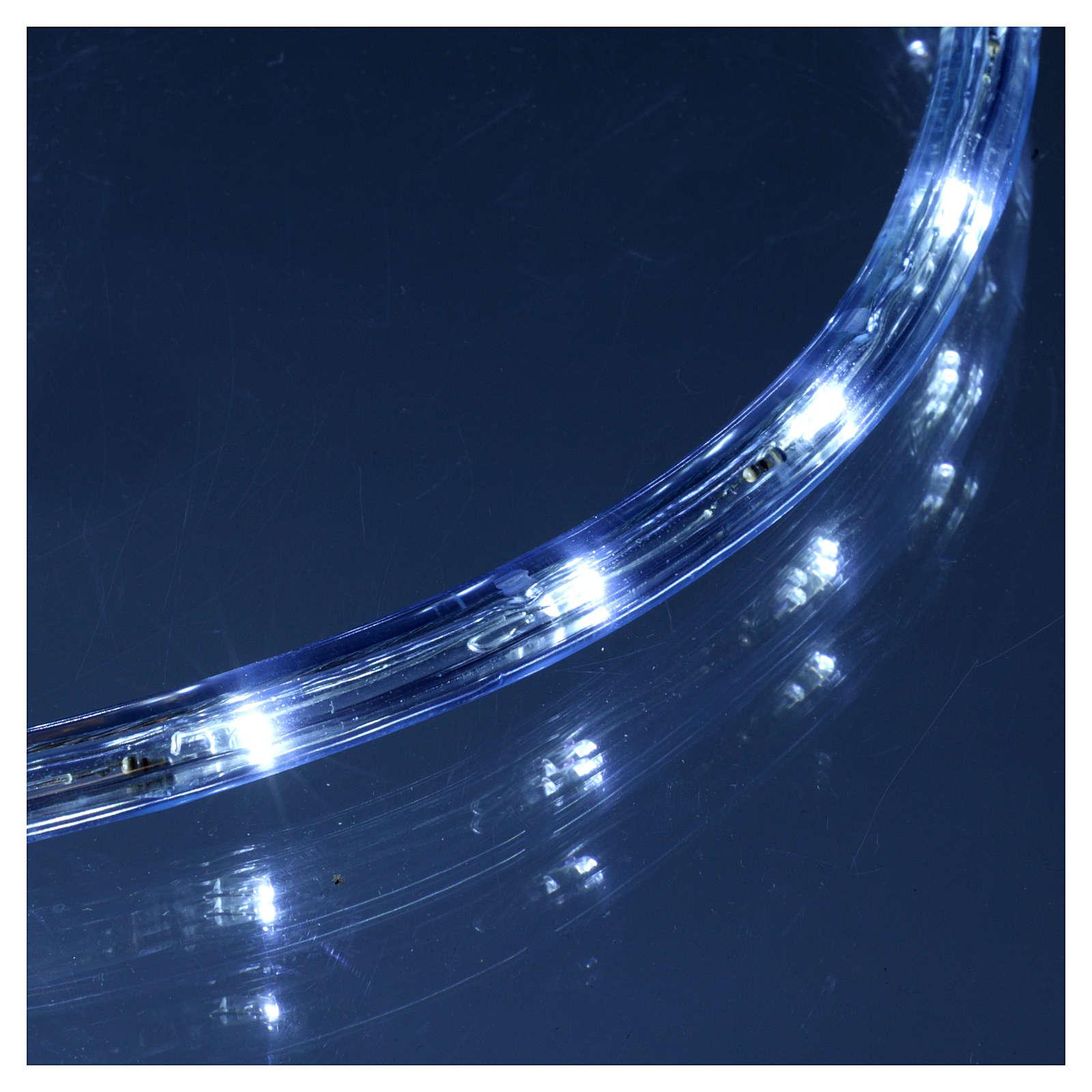 Luce natalizia tubo 50 m led ghiaccio 2 vie - a taglio 3