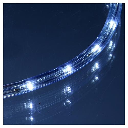 Luce natalizia tubo 50 m led ghiaccio 2 vie - a taglio 4