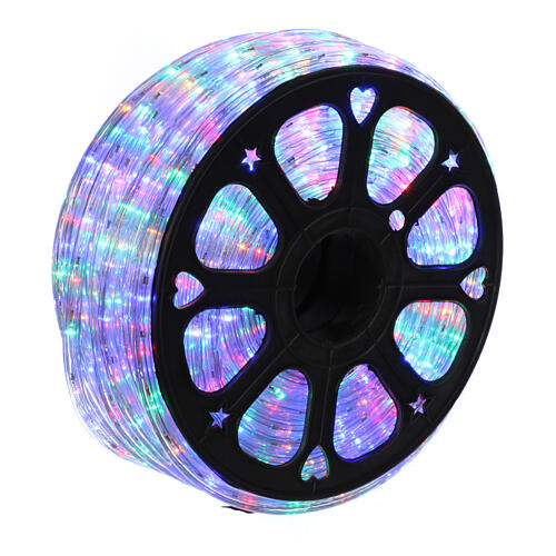 Luz tubo led multicolor 50 m 3 vías al corte 1