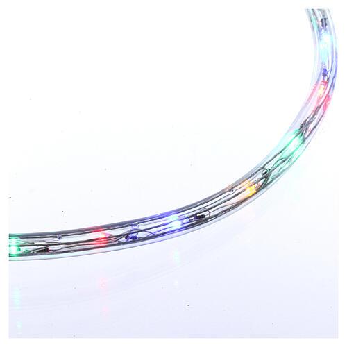 Luz tubo led multicolor 50 m 3 vías al corte 4