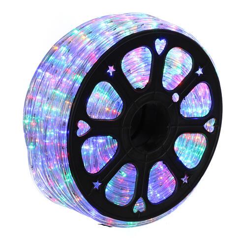 Luce tubo led multicolor 50 m 3 vie a taglio 1