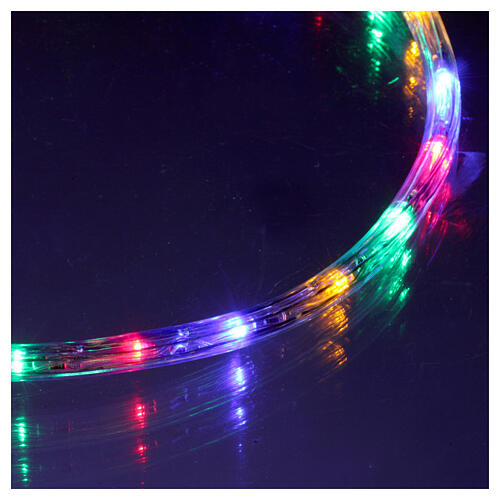 Luce tubo led multicolor 50 m 3 vie a taglio 4