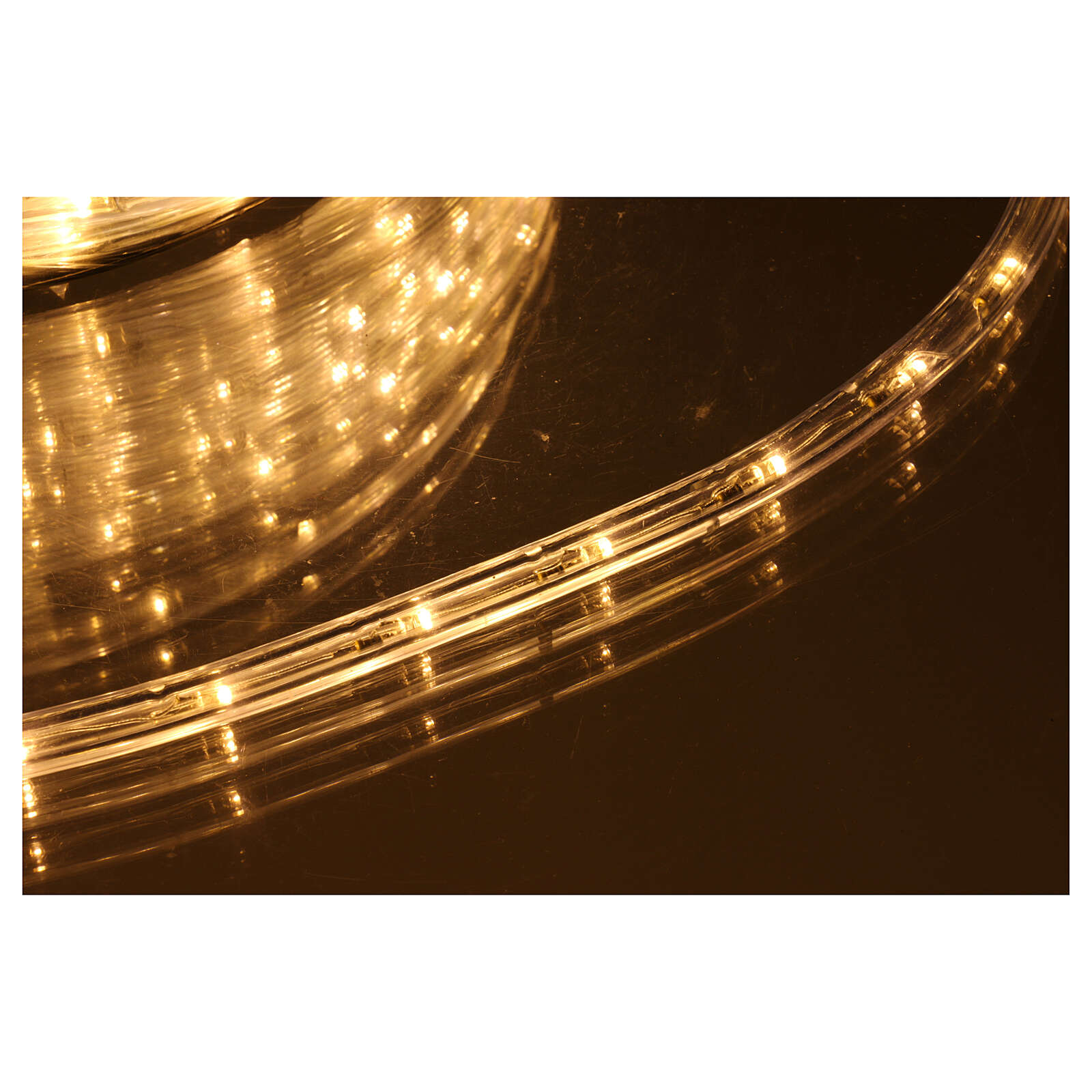 Luz Navidad Tubo Led blanco cálido 50 m 3 vías al corte 3