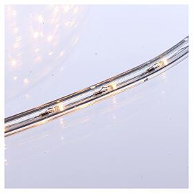 Luz Navidad Tubo Led blanco cálido 50 m 3 vías al corte s3