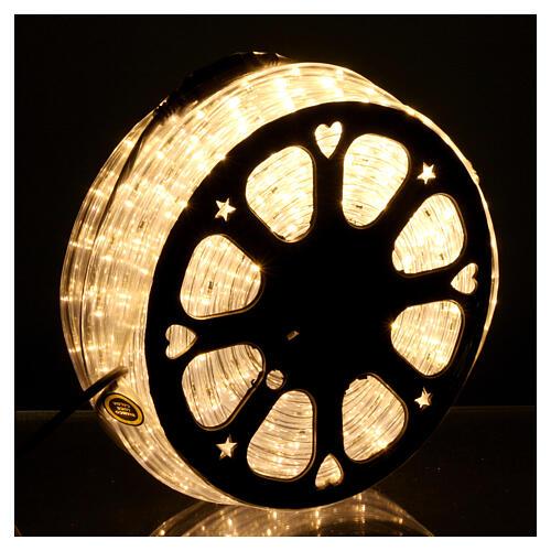 Luce Natale Tubo Led bianco caldo 50 m 3 vie a taglio 2