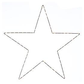 Decorazione Natalizia stella luminosa 80 LED gialloINTERNO corrente 60X60 cm s1