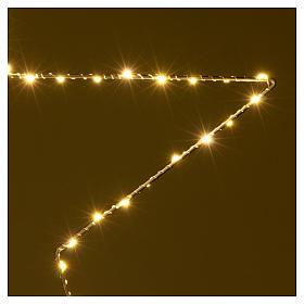 Decorazione Natalizia stella luminosa 80 LED gialloINTERNO corrente 60X60 cm s3
