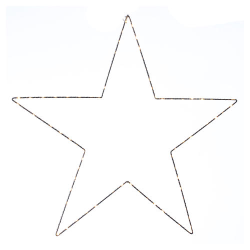 Decorazione Natalizia stella luminosa 80 LED gialloINTERNO corrente 60X60 cm 1