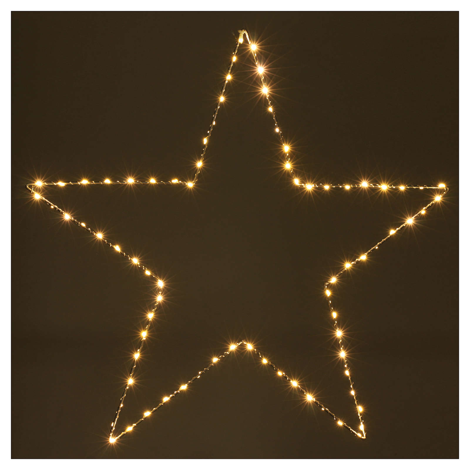 Christmas decoration bright star 80 leds yellow internal use 60X60 cm 3