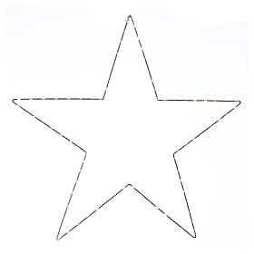 Christmas decoration bright star 80 leds yellow internal use 60X60 cm s1