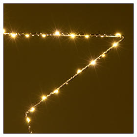 Christmas decoration bright star 80 leds yellow internal use 60X60 cm s3