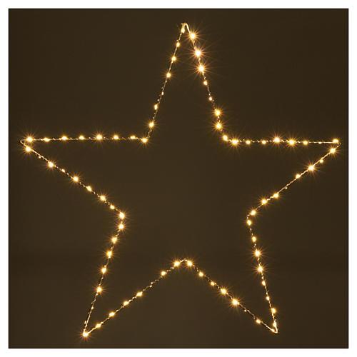 Christmas decoration bright star 80 leds yellow internal use 60X60 cm 2