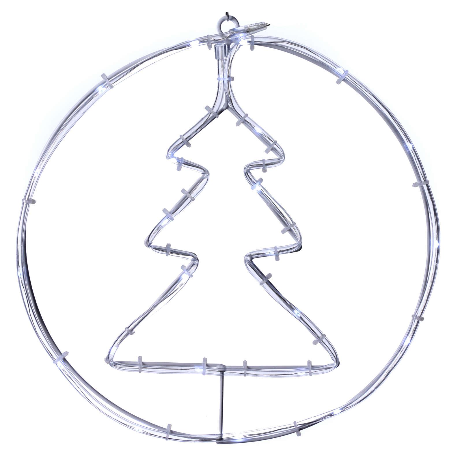 Árbol de Navidad luminoso 24 mini LED blanco frío INTERIOR batería 3
