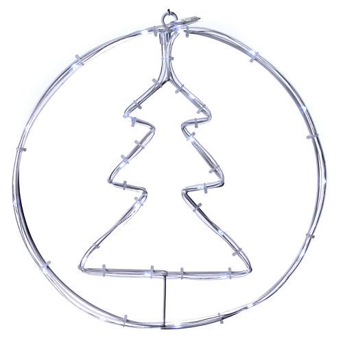 Árbol de Navidad luminoso 24 mini LED blanco frío INTERIOR batería 1