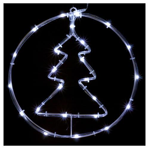 Árbol de Navidad luminoso 24 mini LED blanco frío INTERIOR batería 2