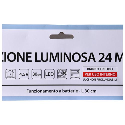 Árbol de Navidad luminoso 24 mini LED blanco frío INTERIOR batería 4