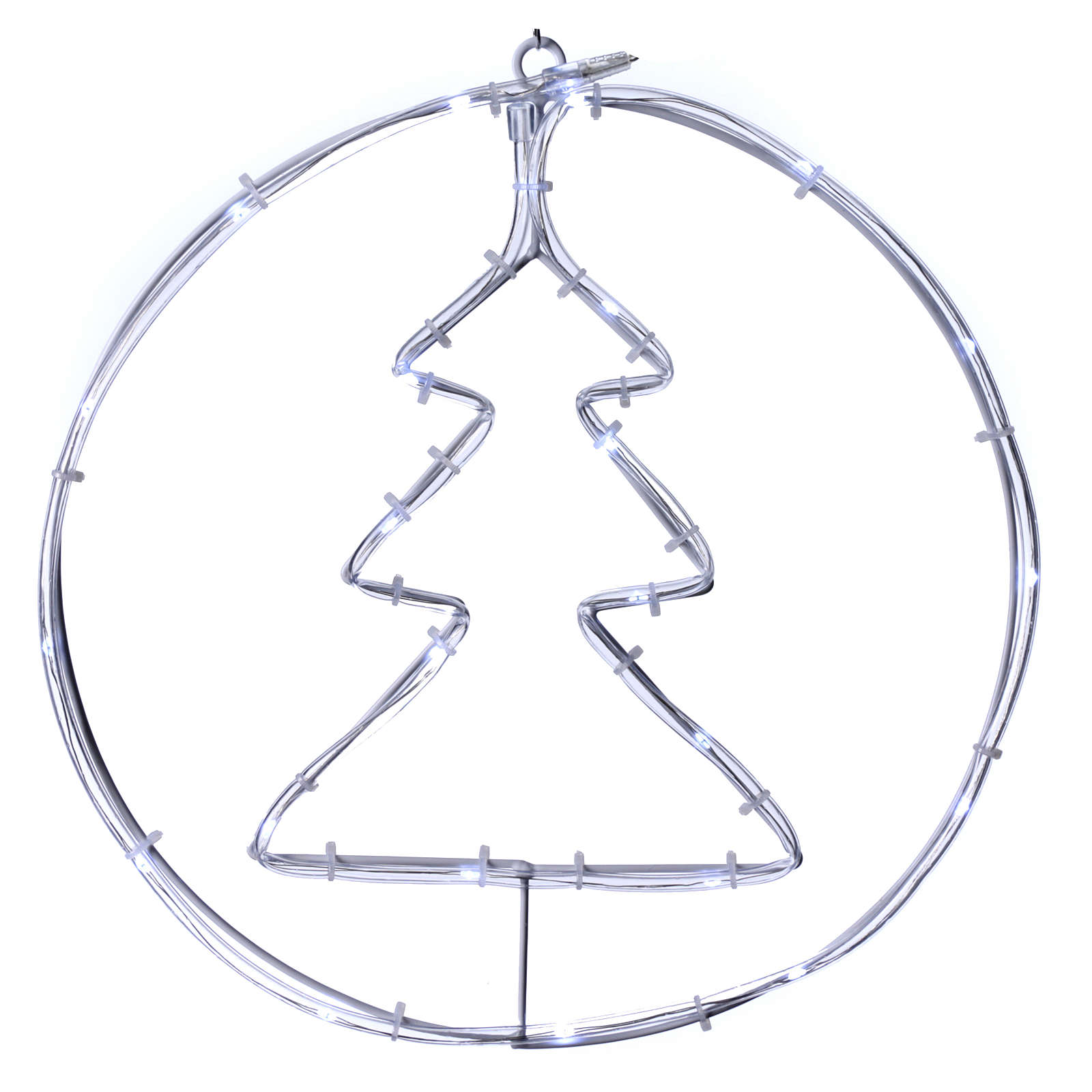 Bright Christmas tree 24 micro LEDS cold white internal use with batteries 3