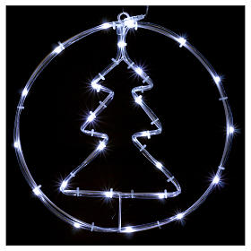 Bright Christmas tree 24 micro LEDS cold white internal use with batteries s2