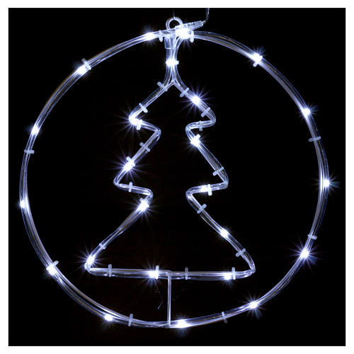 Bright Christmas tree 24 micro LEDS cold white internal use with batteries 2