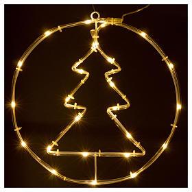 Árbol de Navidad luminoso 24 mini LED blanco cálido INTERIOR batería s2
