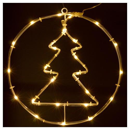 Albero di Natale luminoso 24 micro  LED bianco caldo INTERNO batteria 2
