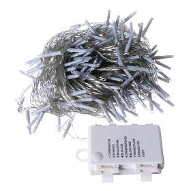 Catena luci di Natale 240 LED bianco freddo memoria e timer ESTERNO batteria s4