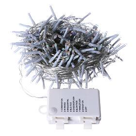 Cadena Navideña luminosa 240 LED multicolor memoria y temporizador EXTERIOR batería s4
