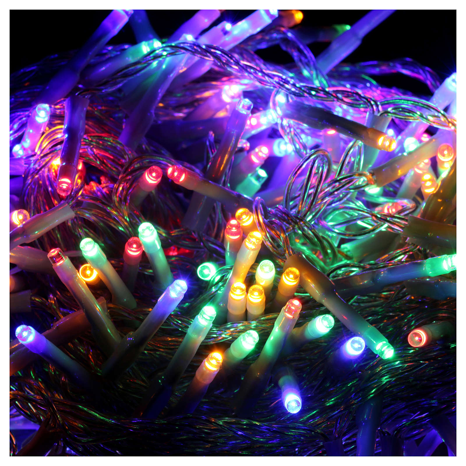 Bright Christmas cable 240 leds multicoloured with memory and timer external use with batteries 3