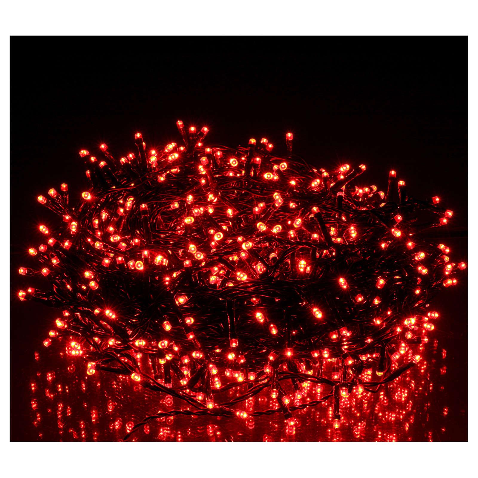 Catena luci Natalizie 750 LED rossa programmabile ESTERNO INTERNO corrente 3