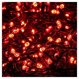 Catena luci Natalizie 750 LED rossa programmabile ESTERNO INTERNO corrente s3