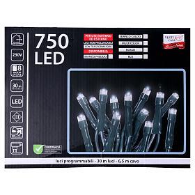Catena luci Natalizie 750 LED rossa programmabile ESTERNO INTERNO corrente s5