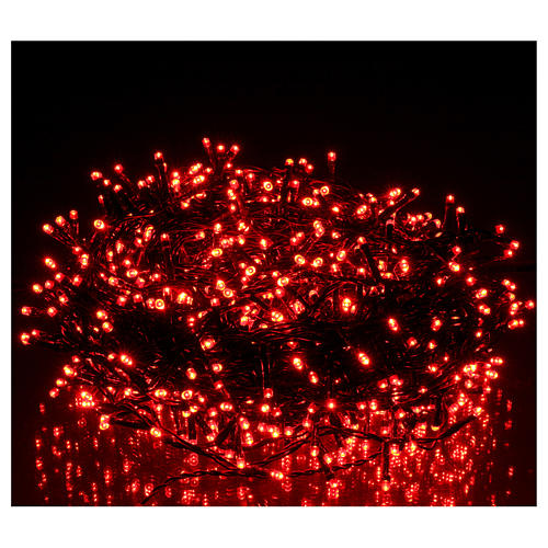 Catena luci Natalizie 750 LED rossa programmabile ESTERNO INTERNO corrente 2