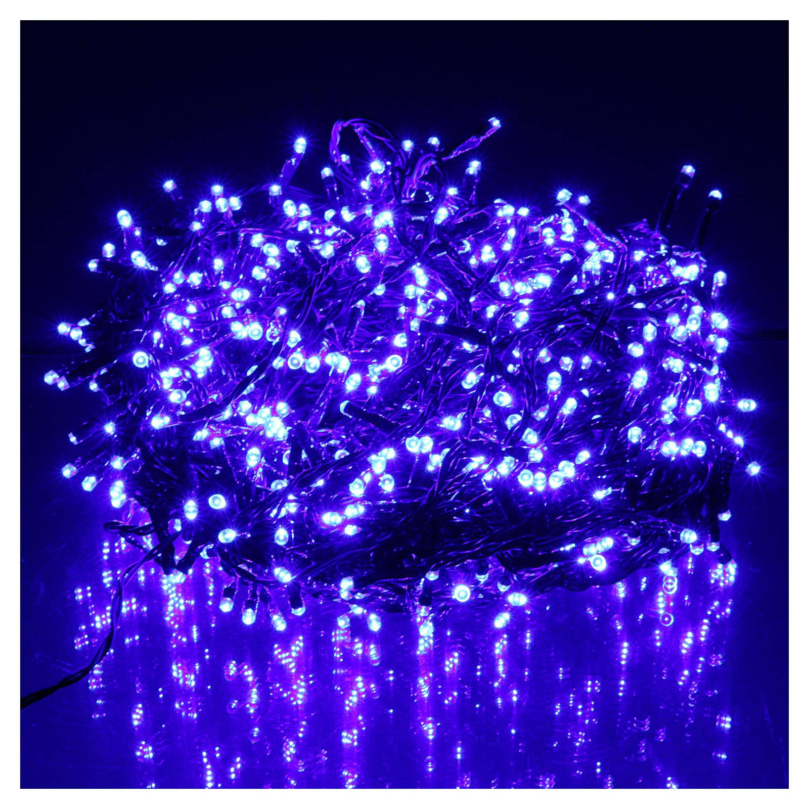 e8ab20587a2 Luces de Navidad 750 LED azul programable EXTERIOR INTERIOR corriente 3