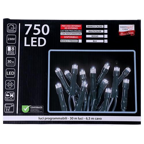 Luci di Natale 750 LED blu programmabile ESTERNO INTERNO corrente 5