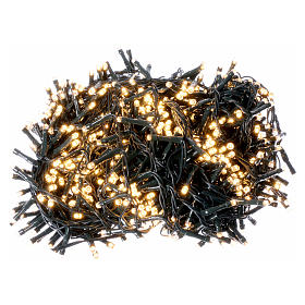 Christmas lights 750 LEDS warm white not programmable internal and external use s1