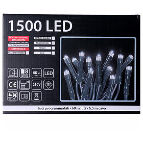 Luci Natalizie 1500 LED  multicolor programmabile ESTERNO INTERNO corrente s5