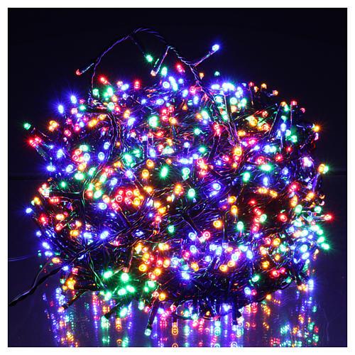 Luci Natalizie 1500 LED  multicolor programmabile ESTERNO INTERNO corrente 2